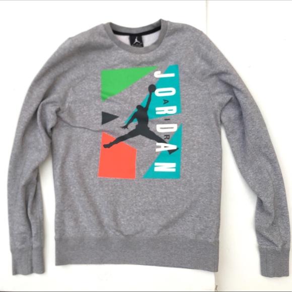 Jordan Sweaters - Jordan Gray Crewneck sweater 126ed5f77